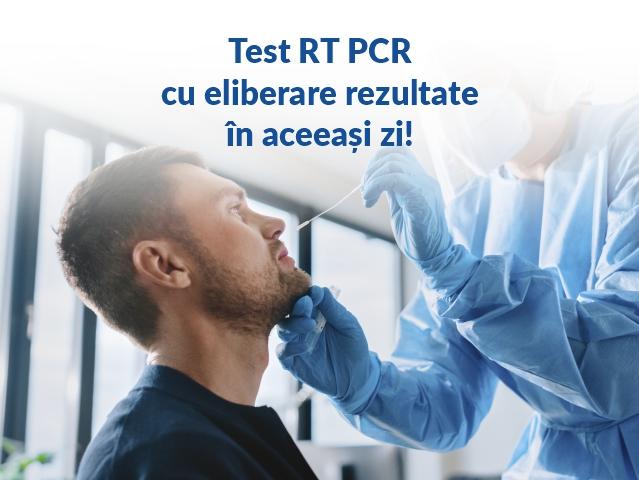 TEST RT PCR CU ELIBERAREA REZULTATELOR ÎN ACEEAȘI ZI